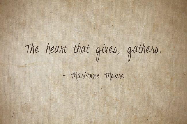 Marianne Moore Quote About Charity - Awesome Quotes About Life