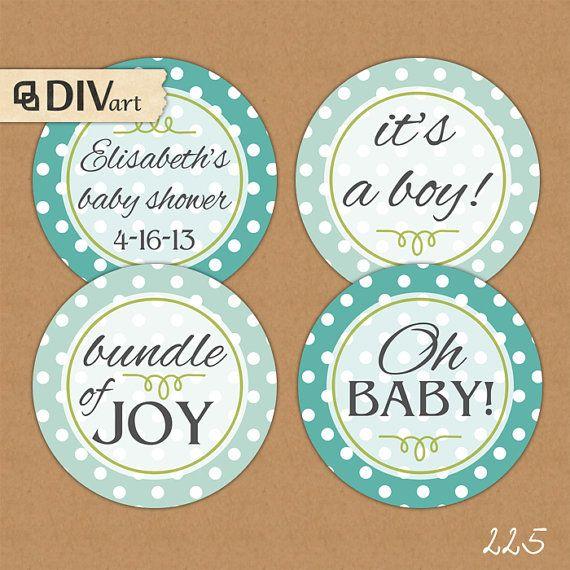 Printable 2 baby shower or birthday cupcake toppers favor tags printable 2 baby shower or birthday cupcake toppers favor tags thank you tags negle Images