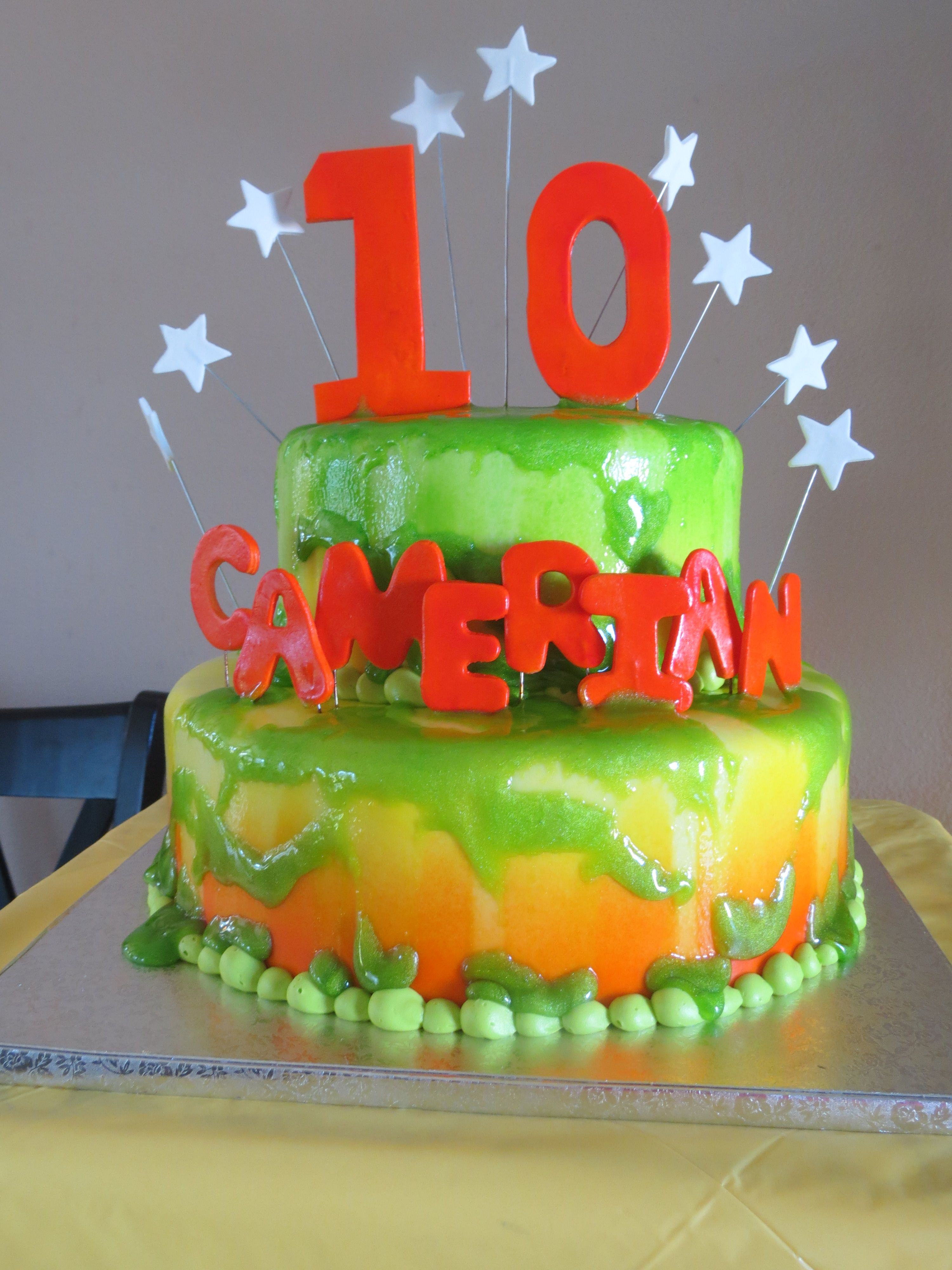 Nickelodeon Slime Themed Party Birthday Parties Past For My Two Boys Pinterest