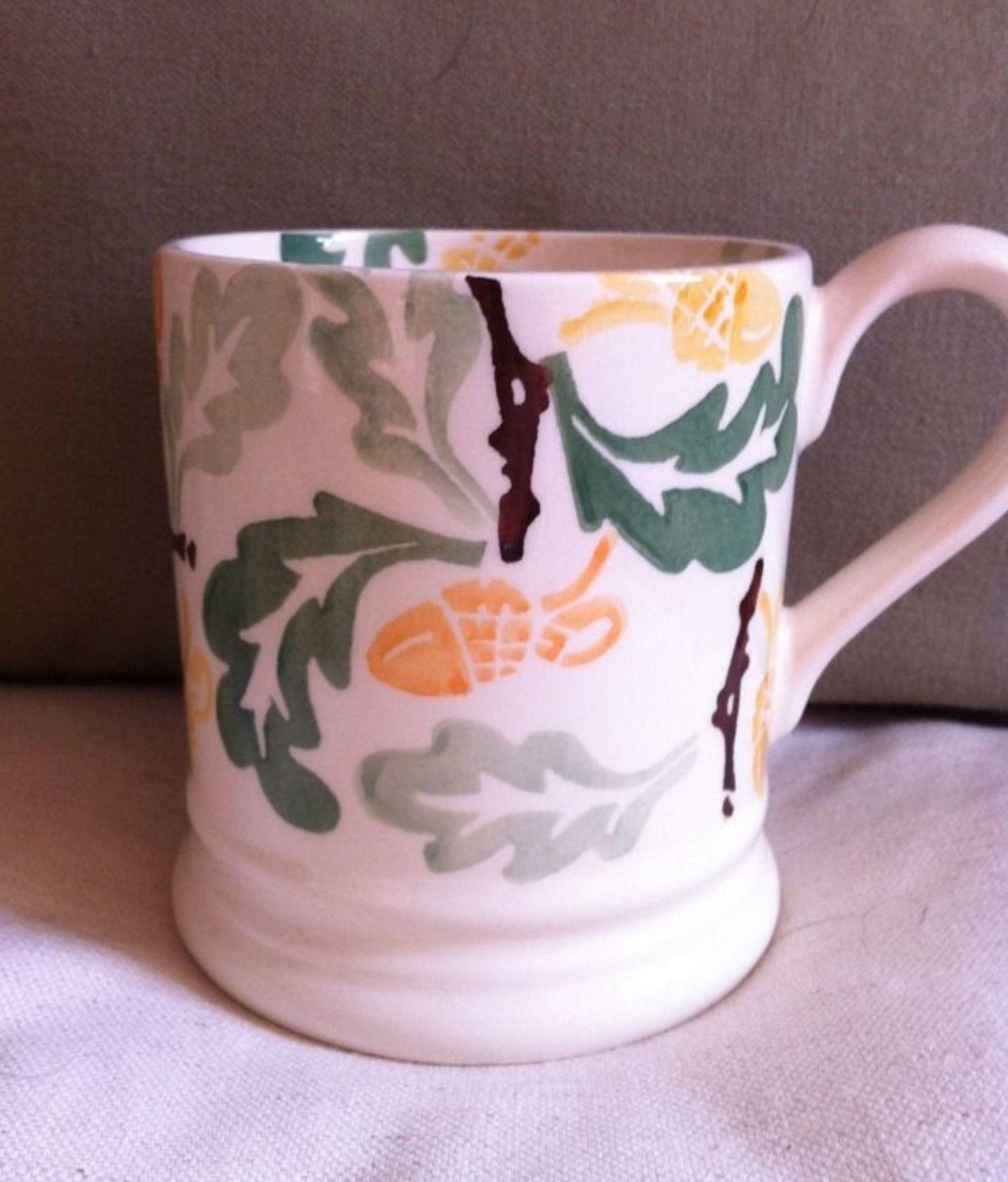 Emma Bridgewater Oak Leaf u Acorn  Pint Mug made exclusively for