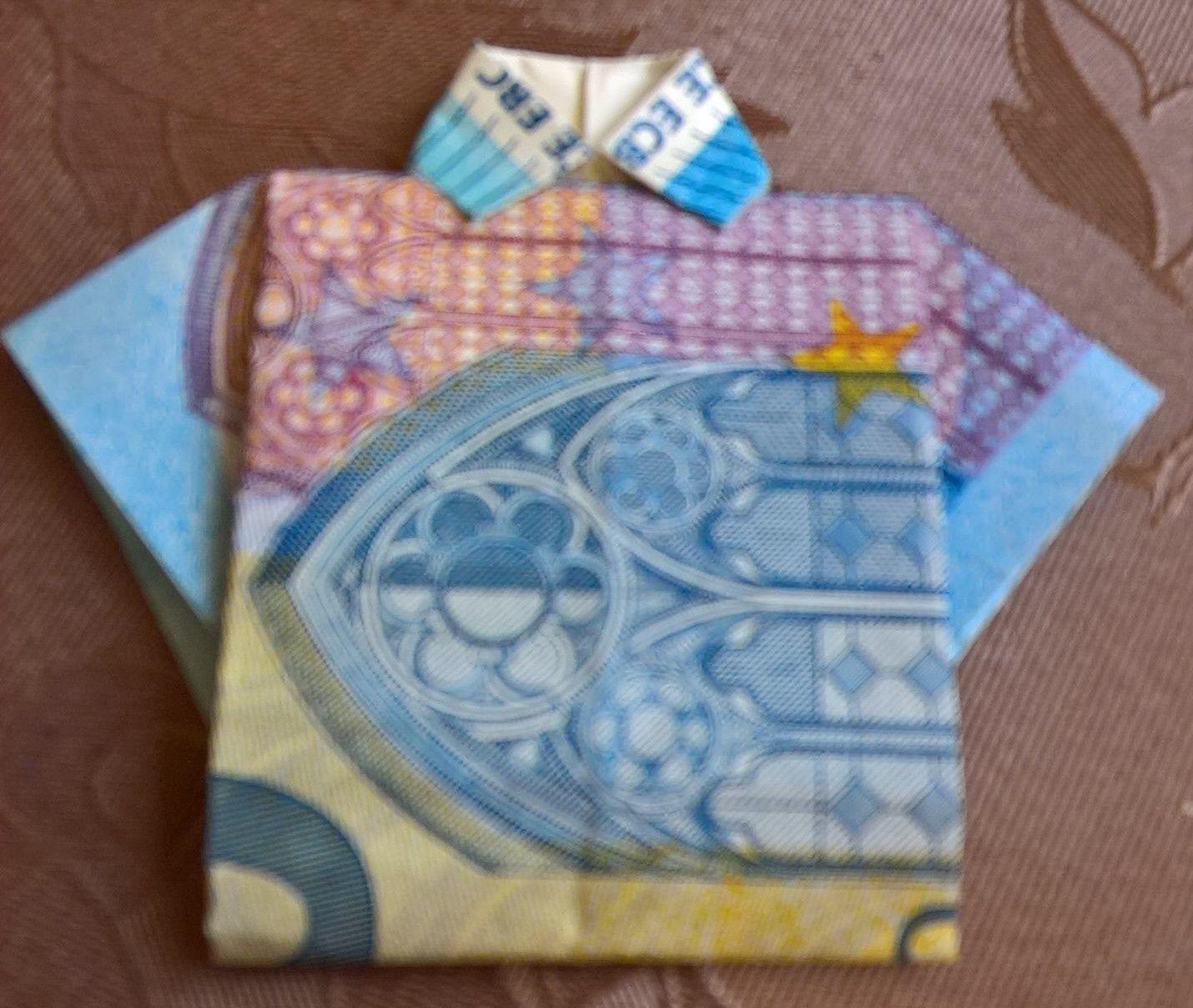 http://youtu.be/Xkmf6qtmj_8 #Hemd #Trikot  #Origami #Geldgeschenk