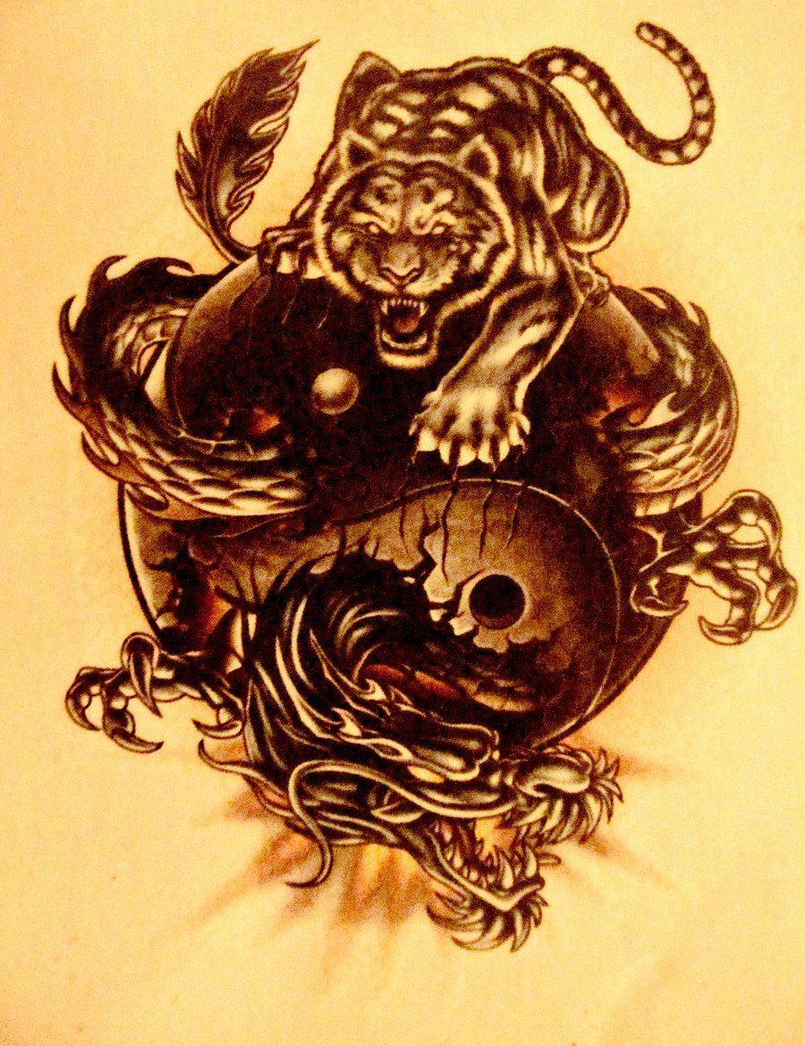 Dragon And Tiger Tattoos Yin Yang | New addition? | Pinterest ...