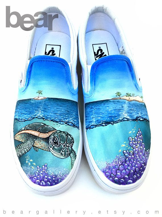 Island Sea Turtles Ocean Women's Casual Shoes Sneakers Flat Cool New Designer