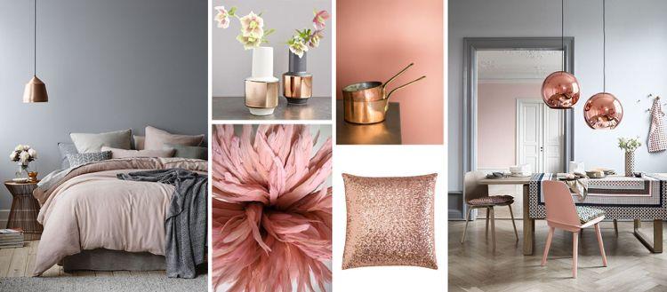 Farbe Puderrosa richtig kombinieren \u2013 Ideen zum Wohnen und Stylen - farbe puderrosa kombinieren wohnen