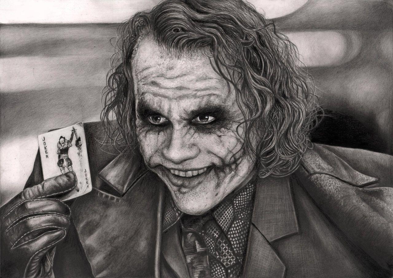 Joker Scribble Drawing : The joker graphite drawing by pen tacular artist viantart