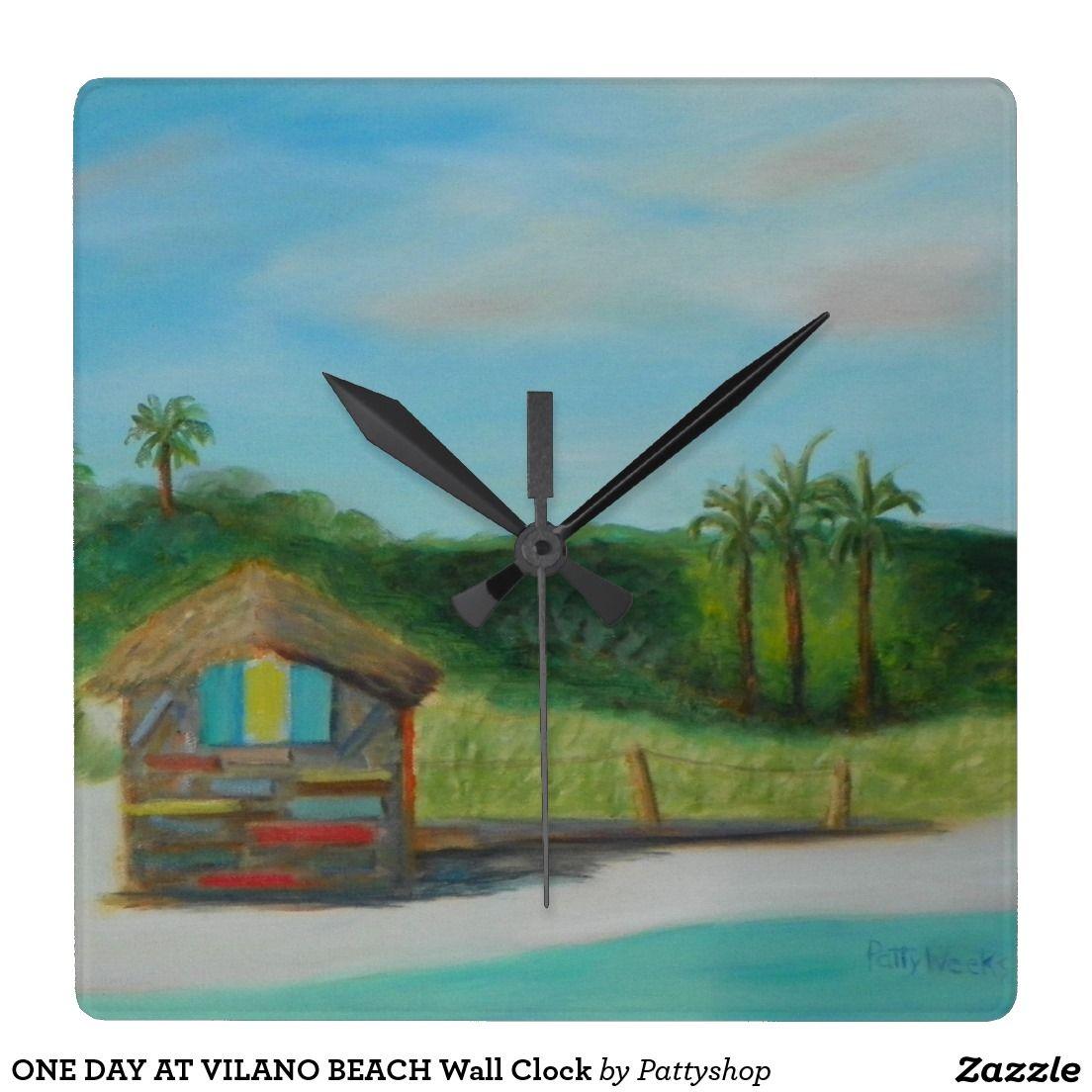 ONE DAY AT VILANO BEACH Wall Clock