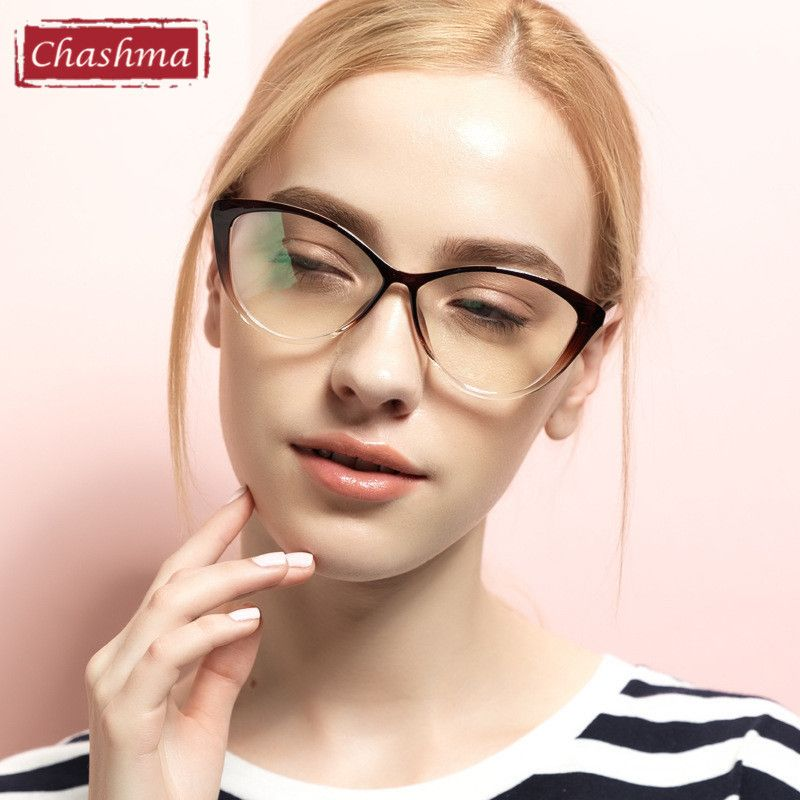 Chashma TR 90 Eyeglasses Cat Eyes Stylish Optical Glasses Frame for ...