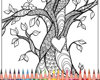 shop for heart coloring page on etsy the place to express your