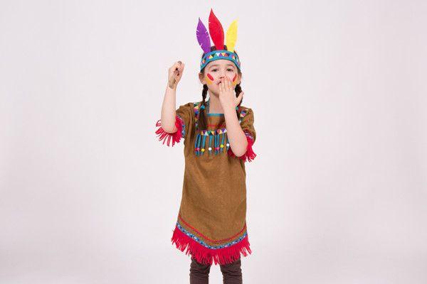 indianer kostm fr kinder selber nhen karneval indianerin. Black Bedroom Furniture Sets. Home Design Ideas