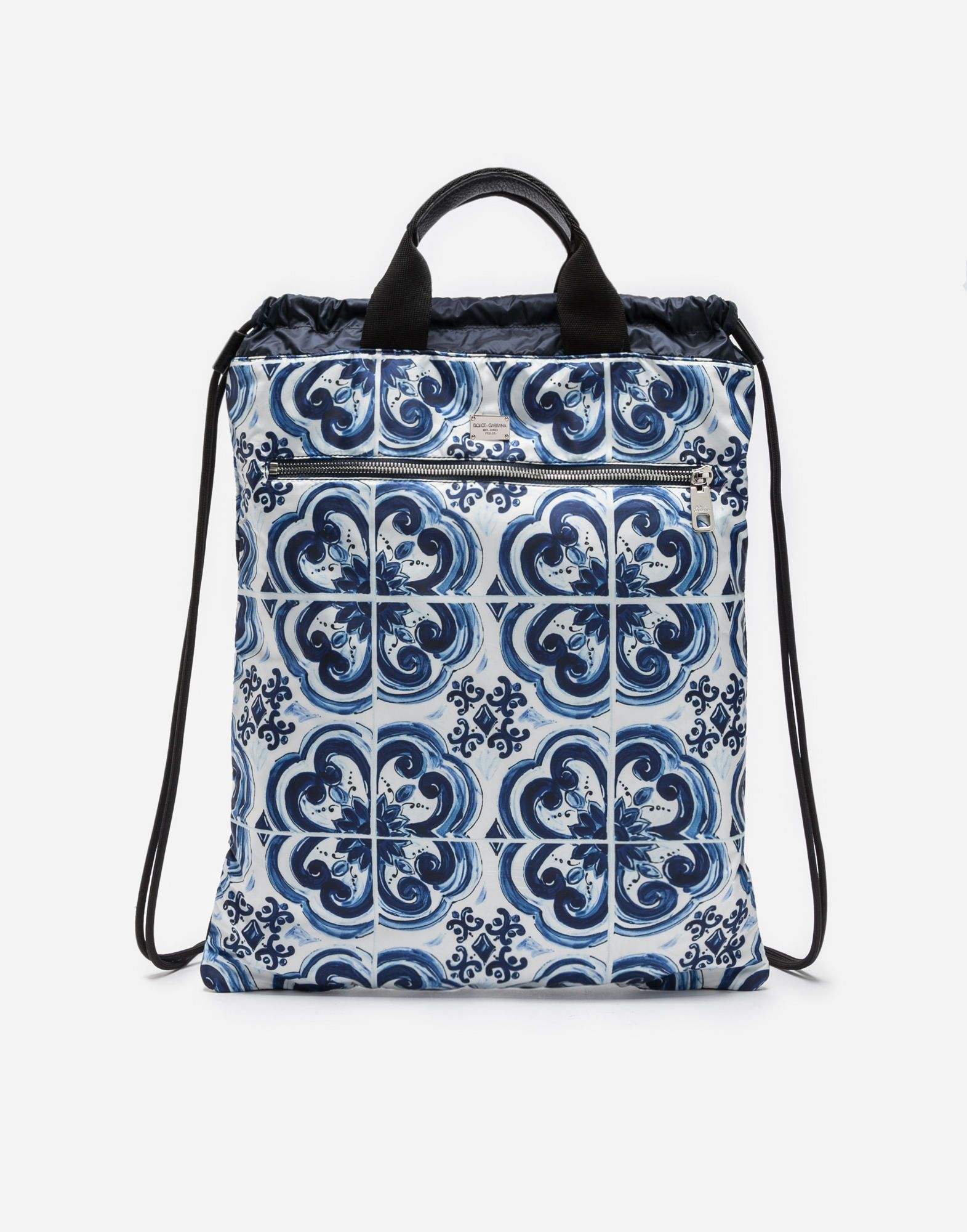 DOLCE   GABBANA Printed Nylon Backpack With Drawstring.  dolcegabbana  bags   leather  polyester  nylon  backpacks   96a0e4fec0995