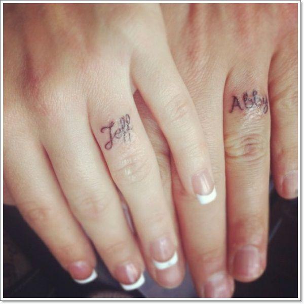 40 Of The Best Wedding Ring Tattoo Designs | Wedding ring tattoos ...
