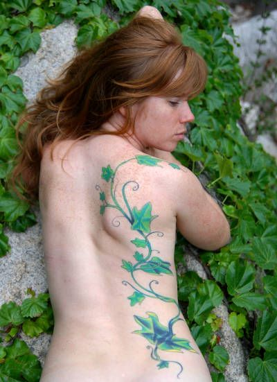 more ivy, not quite it, but I like the placement
