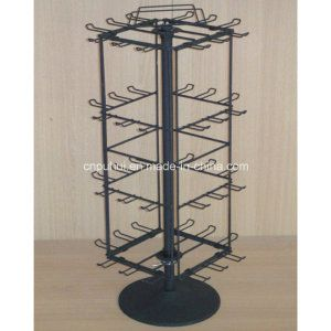 Table Top Standing Swivel Peg Hooks Metal Rack Retail Display For