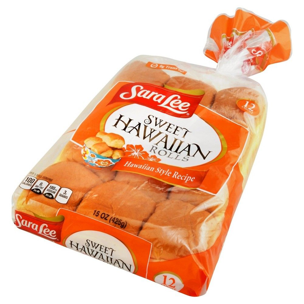 Sara Lee Sweet Hawaiian Rolls 12ct 15oz Hawaiian Rolls Hawaiian Sweet Rolls Bread Packaging