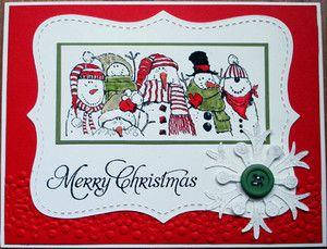 "Stampin Up Handmade Christmas Card Kit ""Holiday Lineup""   eBay"