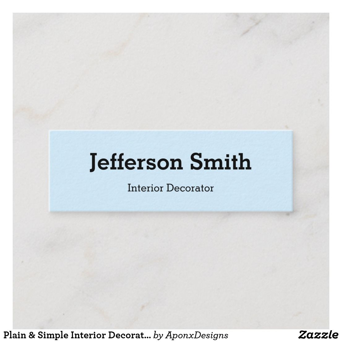 Plain  simple interior decorator business card also nice looking rh ar pinterest