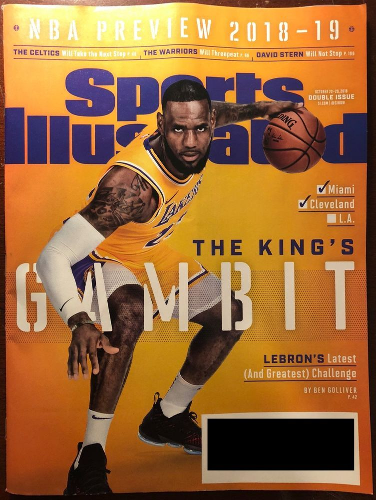 bb600726c279 Sports Illustrated Magazine October 22-29 2018 NBA PREVIEW  2018-19 LEBRON  JAMES