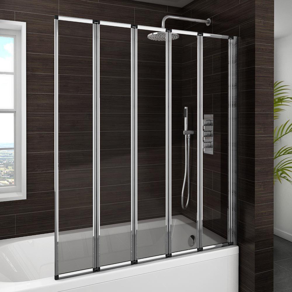 Haro Folding Bath Screen 5 Fold Concertina At Victorian Plumbing Bath Screens Bath Shower Screens Shower Screen