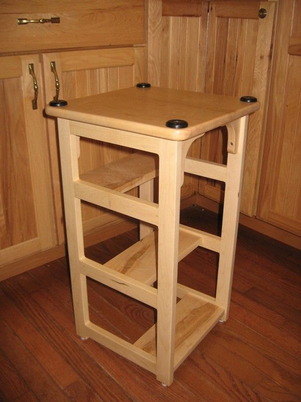 Talk About Practical A Bar Stool Upside Down With Added