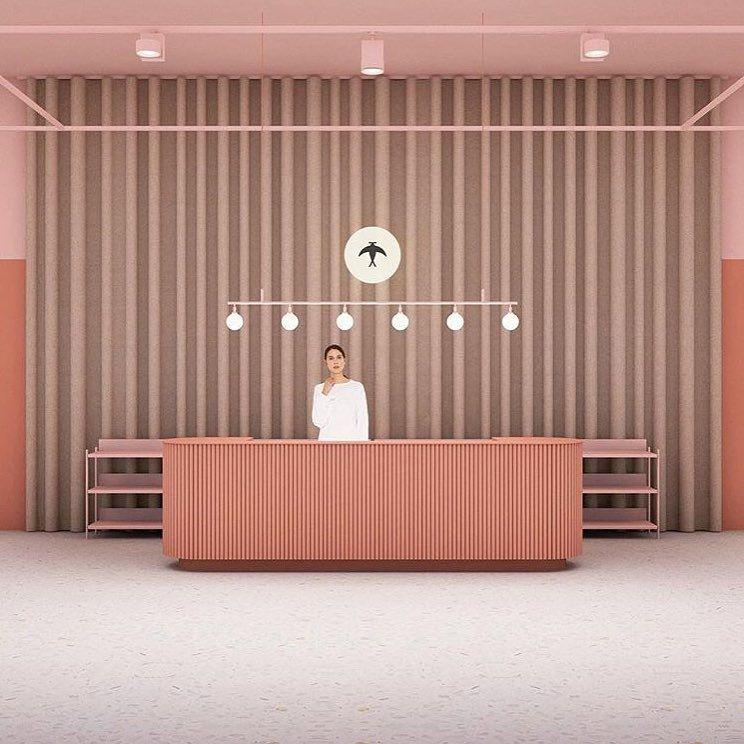 Bancone reception coordinato con il resto della stanza for Design stanza ufficio