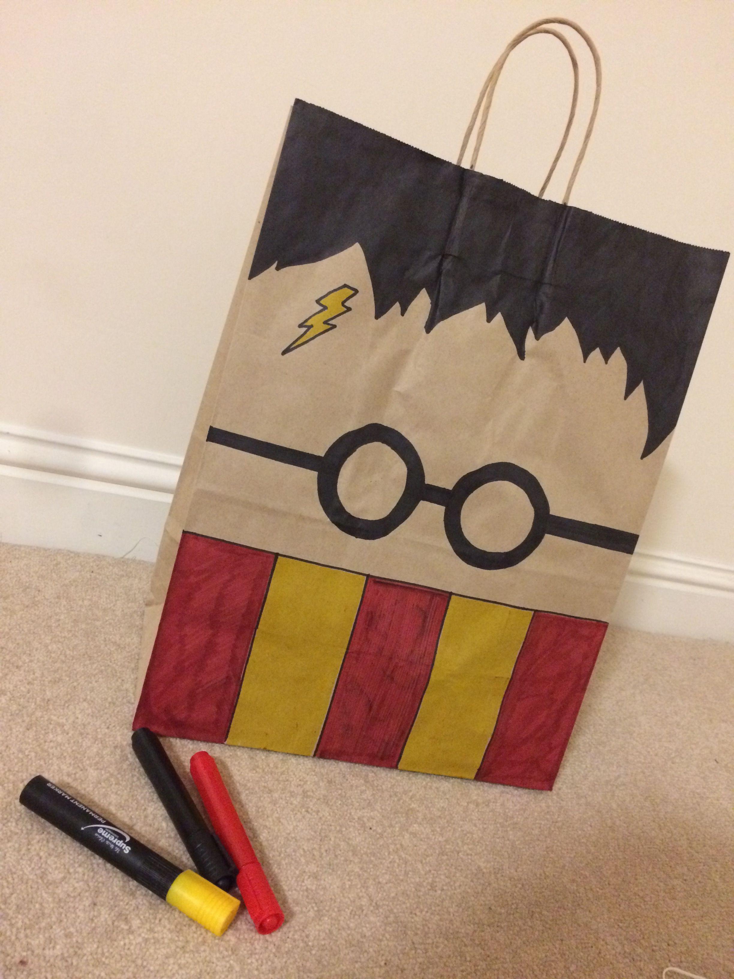 Diy Harry Potter Gift Bag Presents Birthday Cards