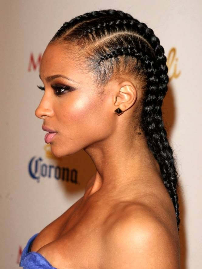 Captivating Cornrows Iverson Braids With Weave