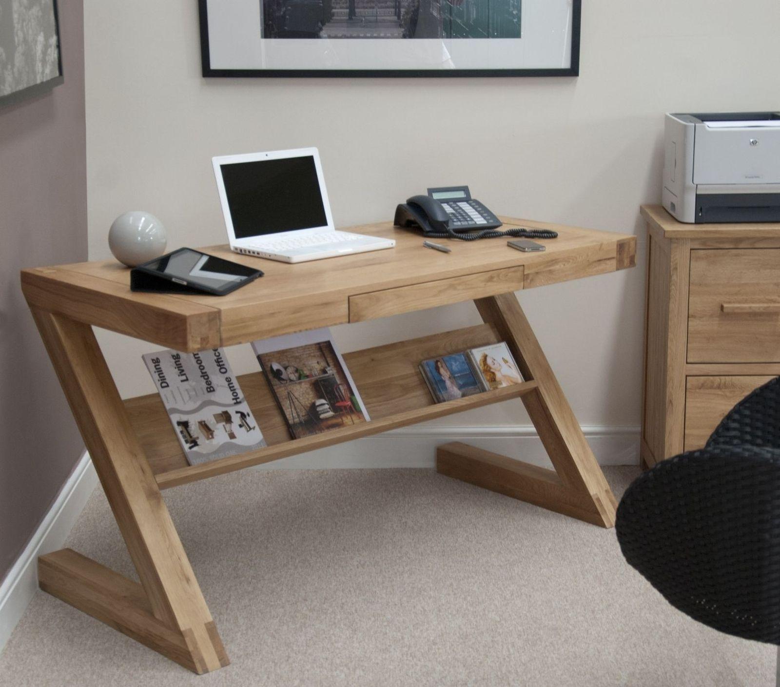 designer computer desks for home. Details about Zouk solid oak designer furniture laptop office PC computer  desk