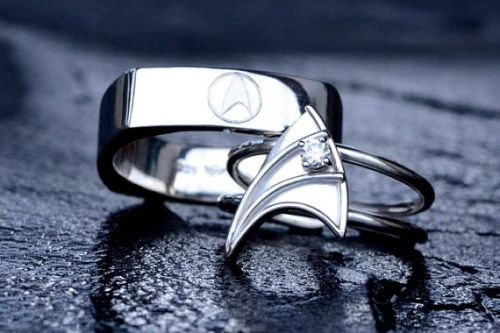 Star Trek Wedding Rings These Star Trek Engagement Rings Are Just