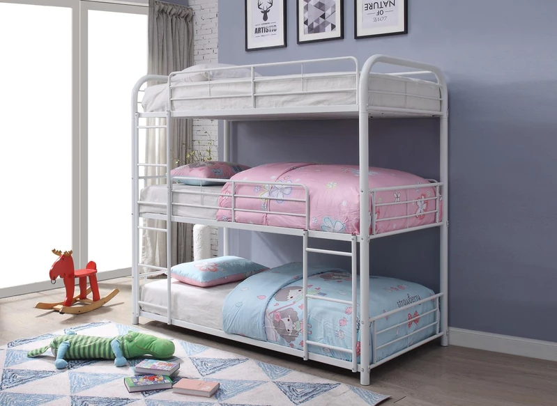 Tripley I Full Bunk Bed White White bunk beds, Bunk