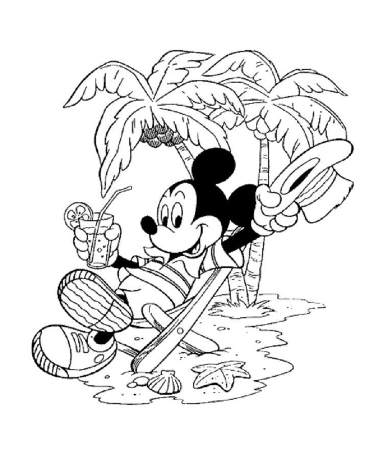 Mickey Mouse Summer Coloring Pages | Disney coloring pages ...