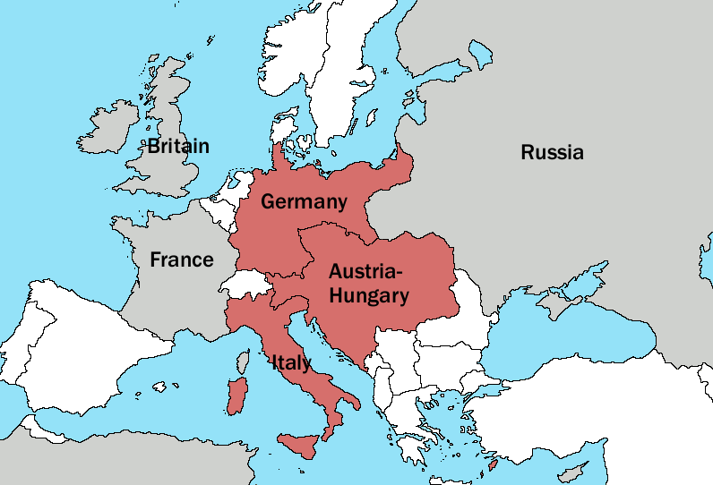 Central Powers The Victorious Allied Nations Of World War I In - Who Has An Alliance With The Us Map