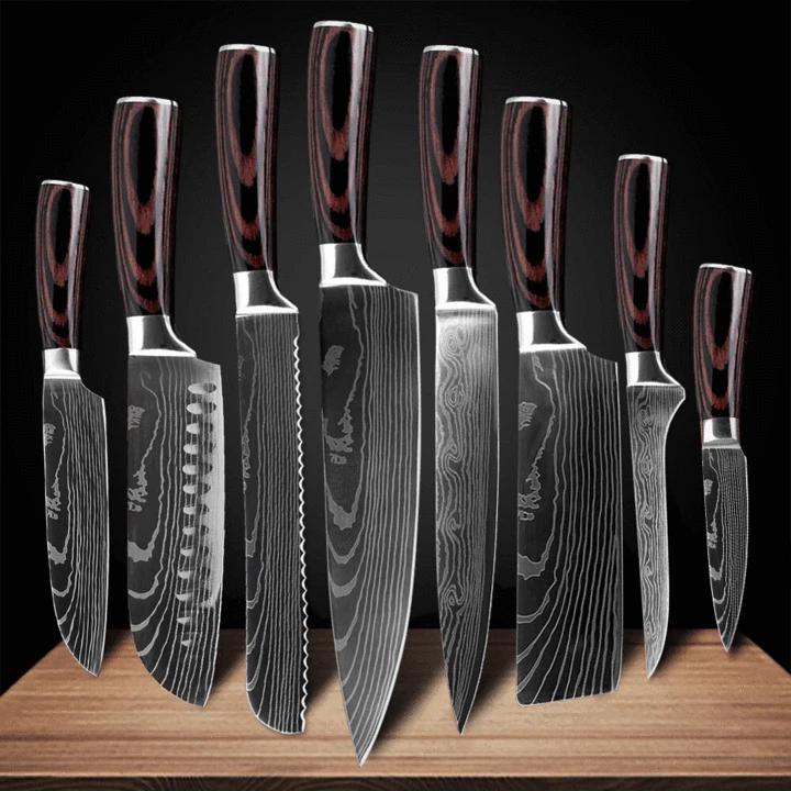 Samurai Series Kanzen Knives Japanese Kitchen Knives Knife Set Kitchen Professional Chef Knife Set