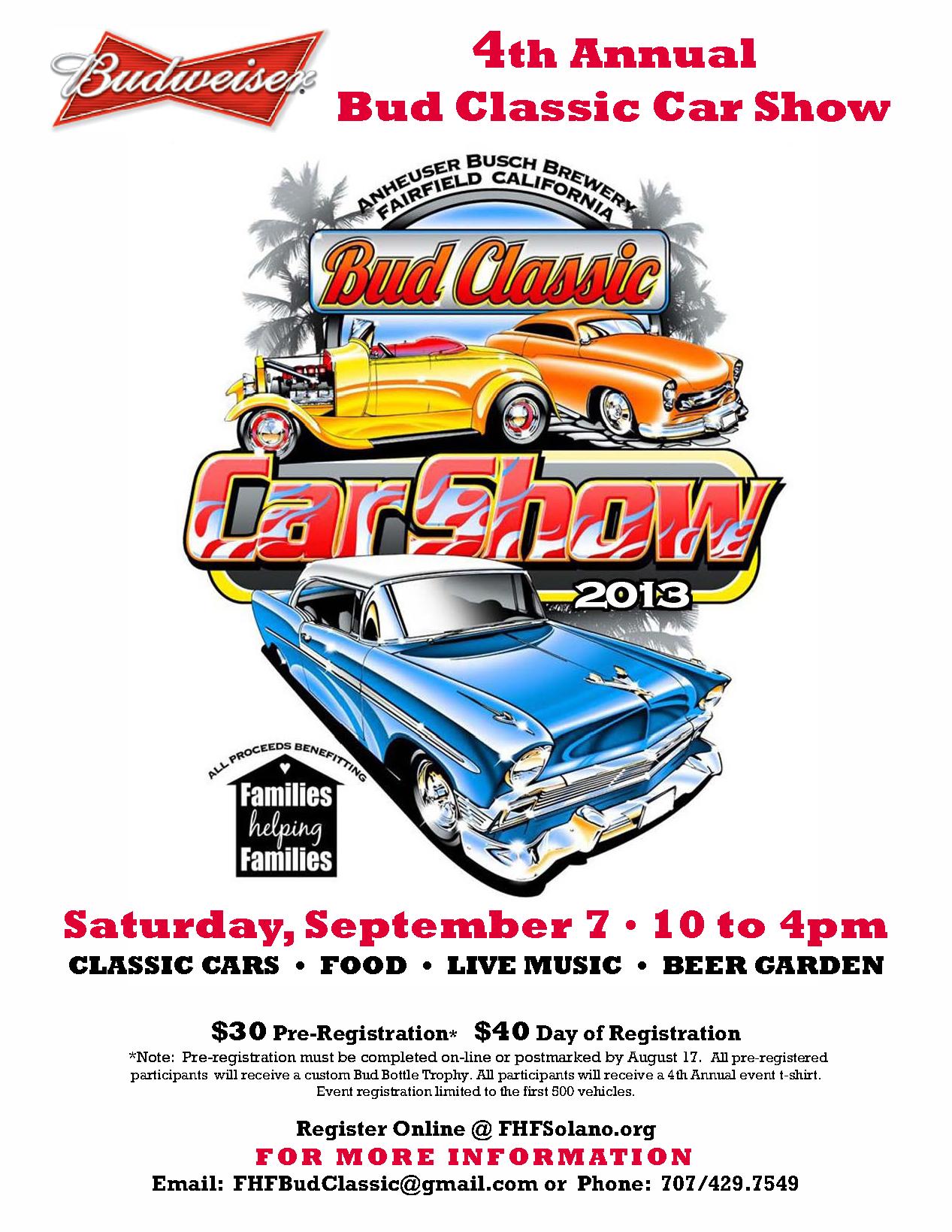 2013 4th Annual Bud Classic Car Show