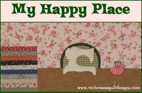 My Happy Place - 2016 Member's Quilt Pattern Wallhanging Series by Benita Skinner from Victoriana Quilt Designs #quilting