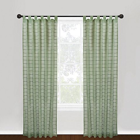 Park B SmithR 100 Cotton Vintage House Hutton Tab Top 84 Inch Window Curtain Panel Natural