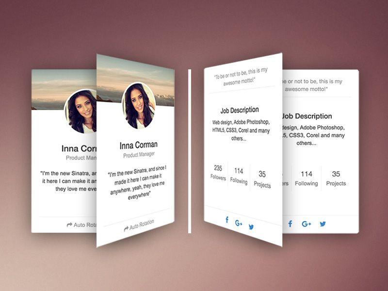 Rotating Css Card By Creative Tim Web Design Css Photoshop Design