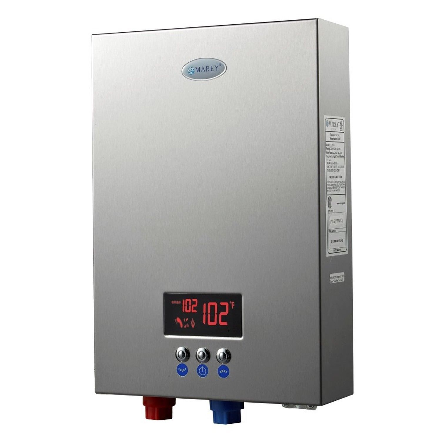 Marey Eco180 Electric Tankless Water Heater Best On Demand 5 Gpm 240v Ebay Electric Water Heater Water Heater Tankless Water Heater