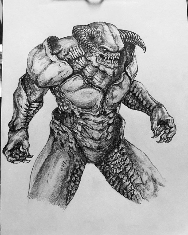Baron of Hell (Doom) by ceriselightning | Monster projects