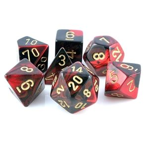 Gemini Dice (Red and Black) RPG Role Playing Game Dice Set