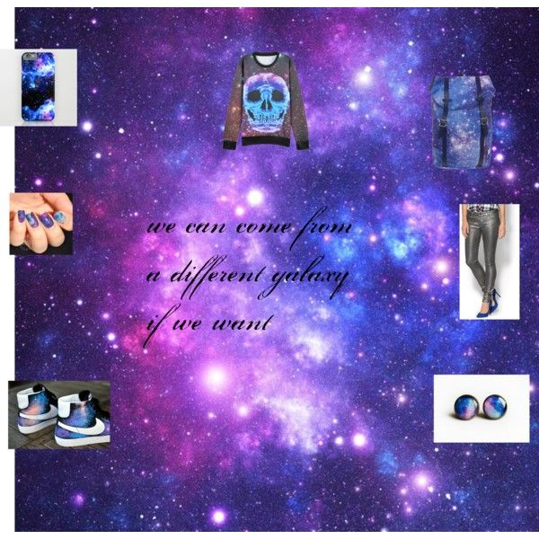 galaxy by chaileemtchll on Polyvore featuring Paige Denim and NIKE