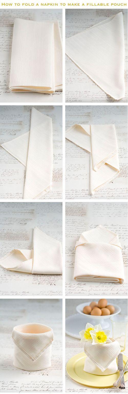 28 creative napkin folding techniques f tes pliage. Black Bedroom Furniture Sets. Home Design Ideas