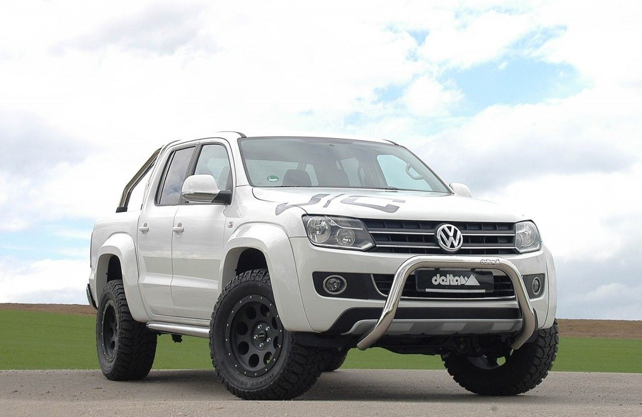 Delta 4x4 Nudge Bar on Amarok White | Amarok | Vw amarok