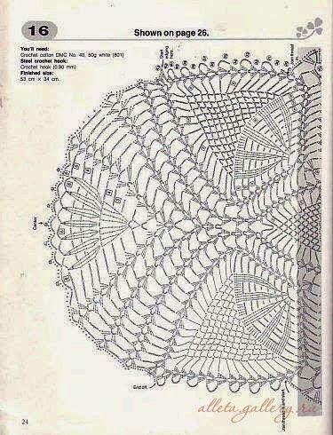 Crochet: centrini pista ovale