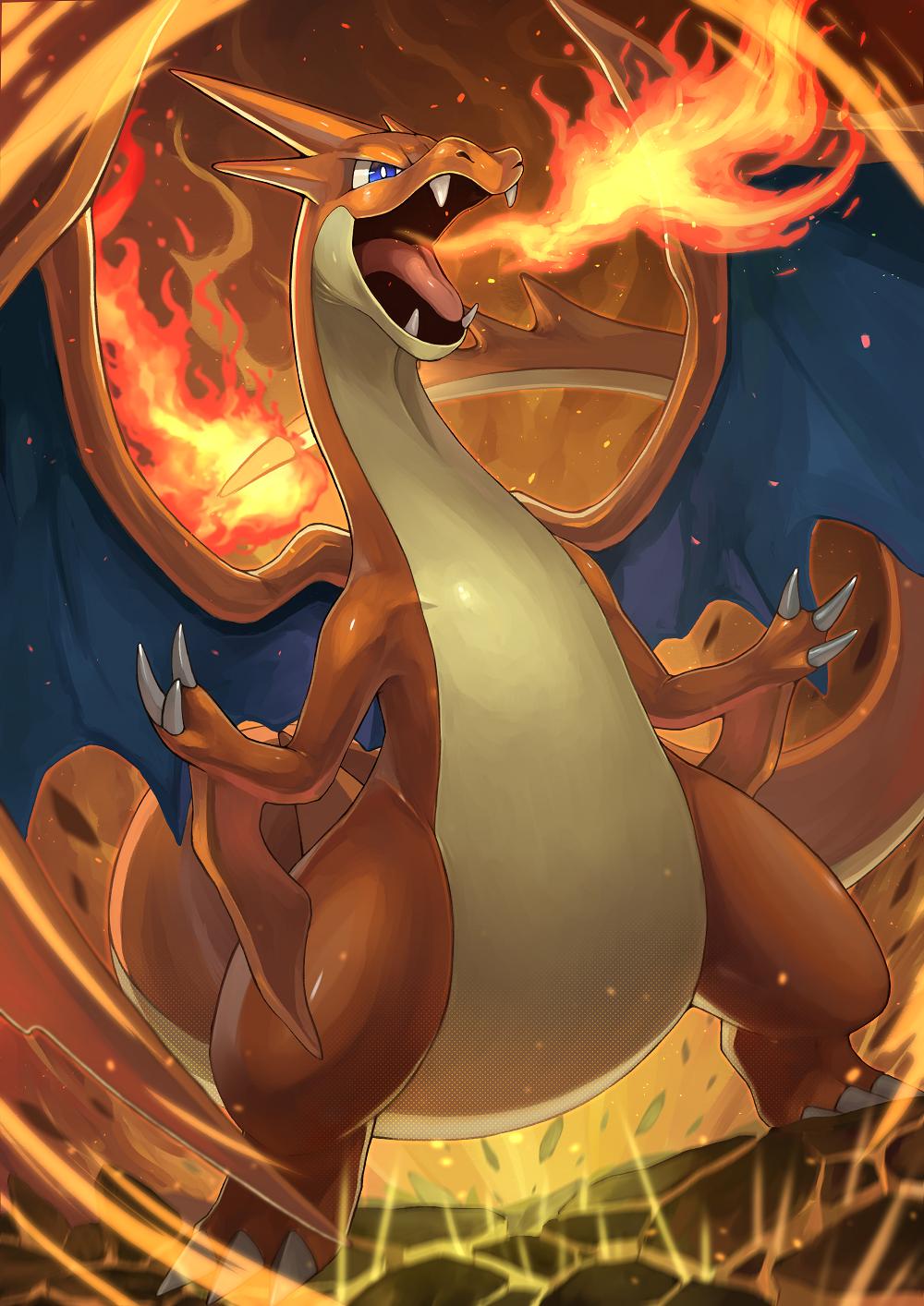 Mega Charizard By Tessy Charizard Art Cool Pokemon Wallpapers Charmeleon Pokemon