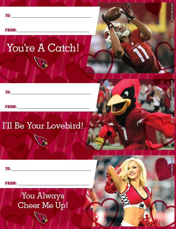 Arizona Cardinals Valentines Day Cards 2015 Print and cut – Valentine Card 2015