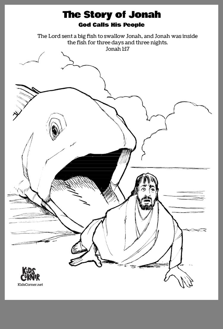 Pin by Sherry Miller on Coloring pages | Jonah and the ...