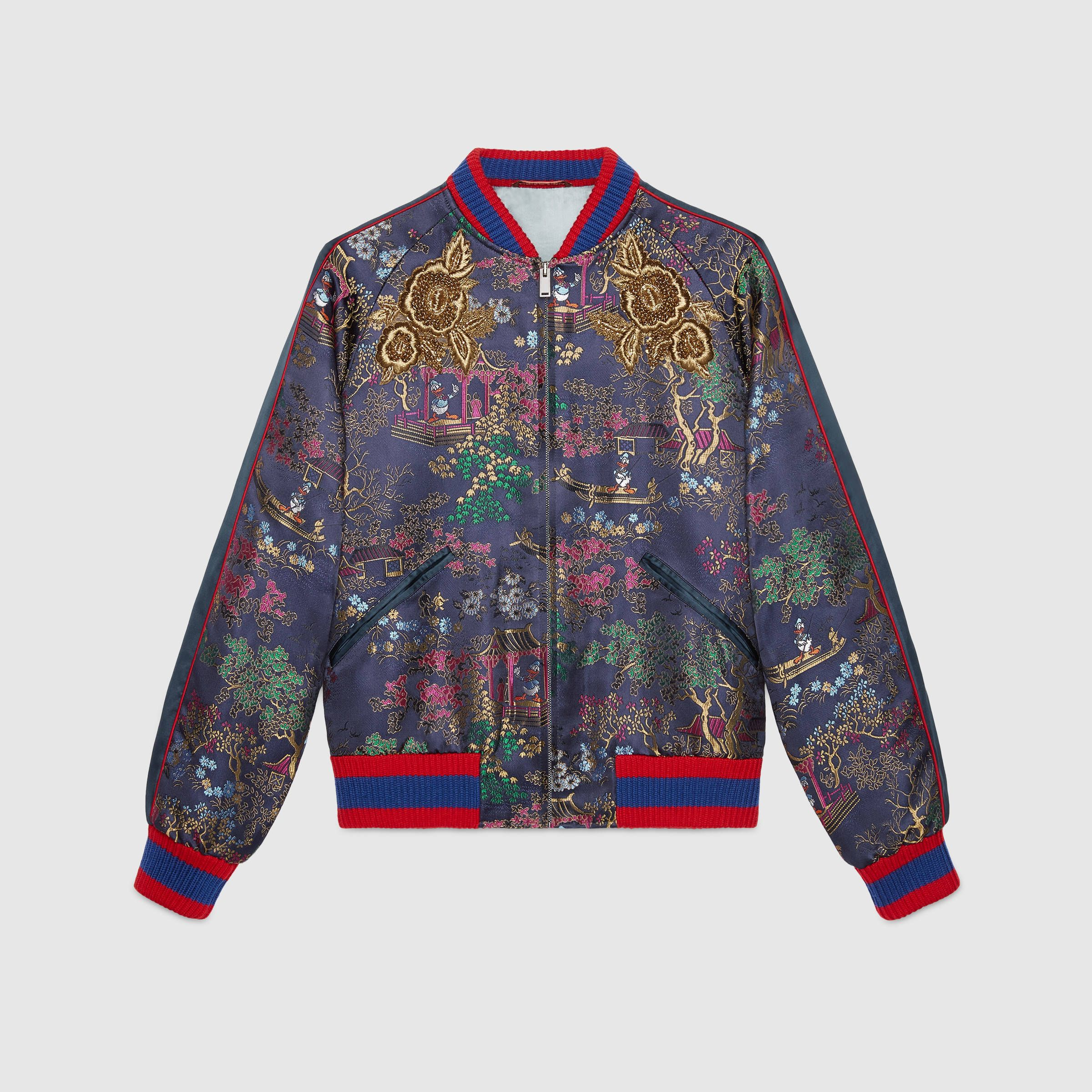 Gucci Jacquard bomber jacket with Donald Duck