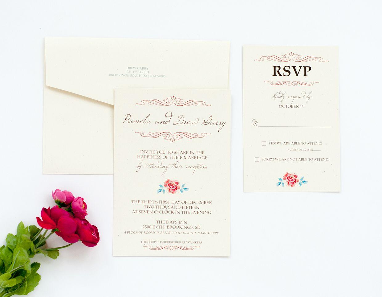Wedding invitations by Hitch Studio, Brookings, SD.   Hitch Wedding ...