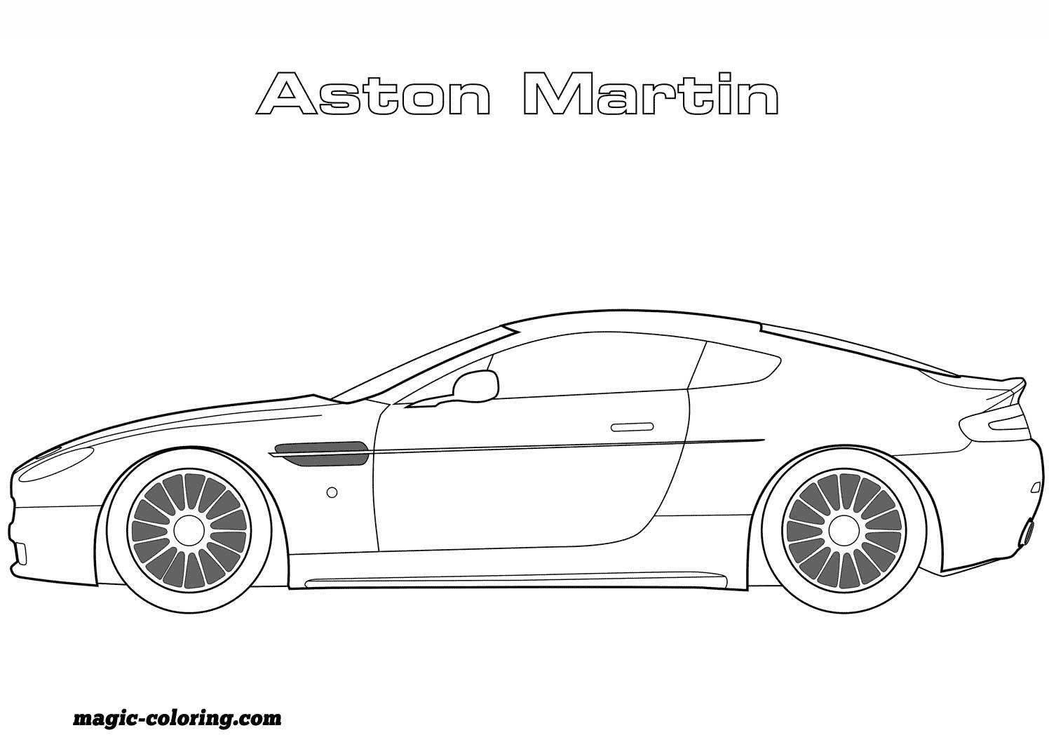 Aston Martin Super Coloring Sports Coloring Pages Coloring Pages Disney Coloring Pages