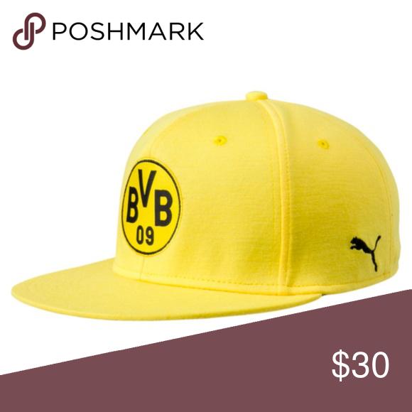 4963f430ca40 PUMA Bundesliga Borussia Dortmund BVB Soccer Hat PUMA Borussia Dortmund Fan  Gear Hat New with Tags